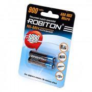 Аккумуляторы Ni-Mh металлогидридные Robiton 900MHAAA HR03 AAA 900 мАч 1,2 В 2шт