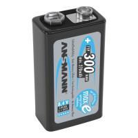 Аккумуляторы металлогидридные Ni-Mh Ansmann 5035451 MaxE 9V (крона) 300мАч 8.4В 25шт.