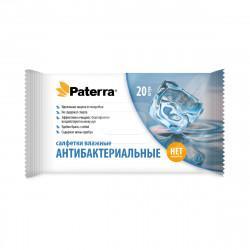 Влажные антибактериальные салфетки Paterra 104-084 в упаковке 20 шт
