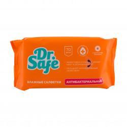 Влажные антибактериальные салфетки Dr.Safe с экстрактом ромашки в упаковке 15 шт