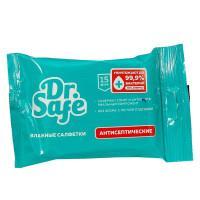 Влажные антисептические салфетки Dr.Safe Ментол в упаковке 15 шт