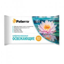 Влажные салфетки Paterra 104-082 освежающие в упаковке 15 шт