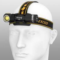 Налобный компактный фонарь Armytek Wizard Pro Magnet USB светодиодный Nichia F06201W теплый свет