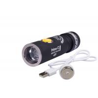 Фонарь Armytek Prime C2 Pro v3 XHP35 (тёплый свет) черный безель