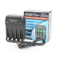 Автоматическое зарядное устройство для Ni-Zn, Ni-MH, Ni-Cd Robiton Smart4 C3 на 4 слота AA и AAA