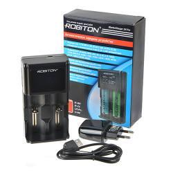 Автоматическое зарядное устройство Robiton MasterCharger 2H Pro для 1-2 аккумуляторов Ni-Mh, Ni-Cd, LiFePo4, Li-ion с LCD экраном