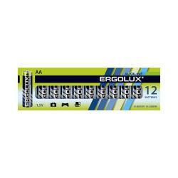 Батарейки алкалиновые 11749 Ergolux Alkaline BP-12 АА LR6 2800mAh 1.5v 12шт
