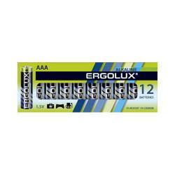 Батарейки алкалиновые 11745 Ergolux Alkaline BP-12 ААА LR03 1250mAh 1.5v 12шт