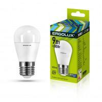 Лампа светодиодная 13178 ERGOLUX LED-G45-9W-E27-6K 220В 9Вт E27 6500K холодный белый