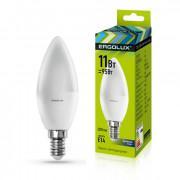 Лампа светодиодная 13620 ERGOLUX LED-C35-11W-E14-6K 220В 11Вт E14 6500K холодный белый