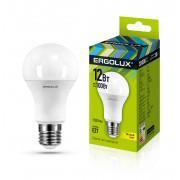 Лампа светодиодная 12150 ERGOLUX LED-A60-12W-E27-3K 220В 12Вт E27 3000K теплый белый