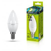 Лампа светодиодная 12135 ERGOLUX LED-C35-7W-E14-4K 220В 7Вт E14 4500K нейтральный белый