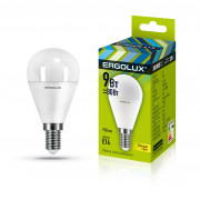 Лампа светодиодная 13173 ERGOLUX LED-G45-9W-E14-3K 220В 9Вт E14 3000K теплый белый
