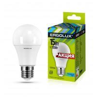 Лампа светодиодная 13638 ERGOLUX LED-A60-15W-E27-4K 220В 15Вт E27 4500K нейтральный белый