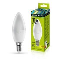 Лампа светодиодная 13618 ERGOLUX LED-C35-11W-E14-3K 220В 11Вт E14 3000K теплый белый