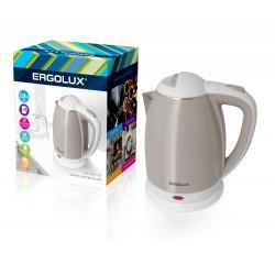 Электрический чайник металлический в пластиковой оболочке ERGOLUX ELX-KS02-C18 1.8л 2300Вт арт13121