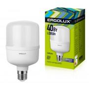 Лампа светодиодная мощная ERGOLUX LED-HW-40W-E27-6K 220В 40Вт E27 6500К холодный белый арт.13555