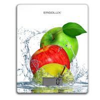 Кухонные электронные весы ERGOLUX ELX-SK02-С01 платформа 5 кг ЯБЛОКИ арт13602