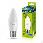Лампа светодиодная ERGOLUX LED-C35-11W-E27-4K 220В 11Вт E27 4500K нейтральный белый арт.13622