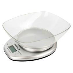 Кухонные электронные весы ERGOLUX ELX-SK04-C03 со съемной чашей 5 кг СЕРЫЕ арт13431