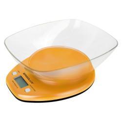 Кухонные электронные весы ERGOLUX ELX-SK04-C11 со съемной чашей 5 кг ОРАНЖЕВЫЕ арт13606