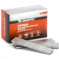 Скобы для пневматического степлера 18GA, 1,25х1 мм длина 28 мм ширина 5,7 мм, 5000 шт Matrix 57661
