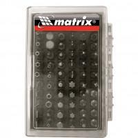 Набор бит для шуруповерта 11387 Matrix 61 предмет пластиковый кейс