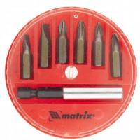 Набор бит для шуруповерта 11392 Matrix 7 предметов пластиковый кейс