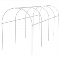 Каркас парника пластиковый 300 х 110 х 120 см, дуга D 20 мм, белый Palisad 63901