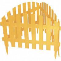 "Забор декоративный ""Винтаж"", 28х300 см, желтый, Россия Palisad 65010"