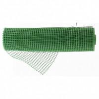 Решетка заборная в рулоне, облегченная, 0,8х20 м, ячейка 17х14 мм, пластиковая, зеленая Россия 64522