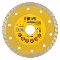 Диск алмазный, отрезной Turbo, 125 х 22,2 мм, сухая резка Denzel 73108