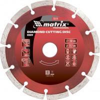 Диск алмазный, отрезной сегментный, 125 х 22,2 мм, сухая резка Matrix Professional 73173