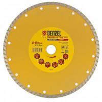 Диск алмазный по бетону DENZEL 73114 отрезной Turbo 230*22,2 сухой рез
