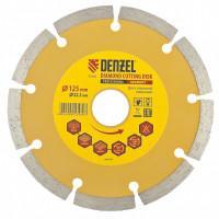 Диск алмазный, отрезной сегментный, 125 х 22,2 мм, сухая резка Denzel 73101