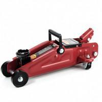 Домкрат гидравлический подкатный, 2 т, h подъема 125-300 мм, в пластиковом кейсе Sparta 510085