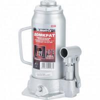 Домкрат гидравлический бутылочный, 12 т, высота подъема 230-465 мм Matrix Master 50727