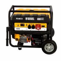 Генератор бензиновый PS 80 E-3, 6.6 кВт, 400 В, 25 л, электростартер Denzel