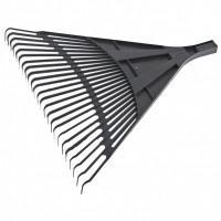 Грабли веерные пластиковые, 600 мм, 24 плоских зуба, без черенка, Россия Сибртех