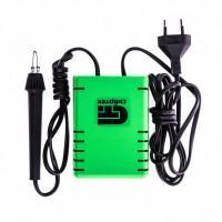 """Электроприбор для выжигания по дереву """"Ажур"""" с подставкой, 2 проекции в комплекте Сибртех 91305"""