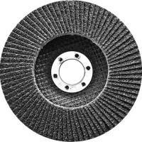 Круг лепестковый торцевой, конический, Р 40, 125 х 22,2 мм Сибртех 74083