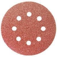 """Круг абразивный на ворсовой подложке под """"липучку"""", перфорированный, P 80, 125 мм, 5 шт Matrix 73804"""