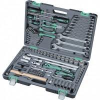 Универсальный набор инструментов ключей торцевых головок 1/4 1/2 14112 Stels 119 предметов в чемодане