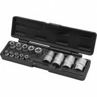 Автомобильный набор торцевых головок TORX 1/4 3/8 1/2 13675 Stels 14 предметов в металлическом кейсе