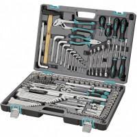Универсальный набор инструментов ключей торцевых головок бит 1/2 3/8 1/4 14107 Stels 142 предмета в чемодане
