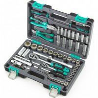 Универсальный набор инструментов торцевых головок бит 1/2 1/4 14108 Stels 69 предметов в чемодане