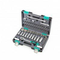 Автомобильный набор торцевых головок и бит 1/2 14103 Stels 60 предметов в чемодане