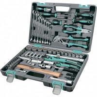 Универсальный набор инструментов ключей торцевых головок бит 1/2 1/4 14116 Stels 76 предметов в чемодане