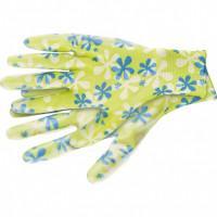 Перчатки садовые из полиэстера с нитрильным обливом, зеленые, S Palisad 67741