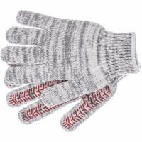 Перчатки трикотажные усиленные, гелевое ПВХ-покрытие, 7 класс, бело-серый меланж Россия Сибртех 68182